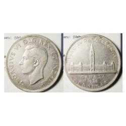 1 Dolar. 1939. AG. 23,32gr. Ley:0,800. Fino/a:18,656. (Visita Real). Ø25mm. EBC+/SC-. KM. 38