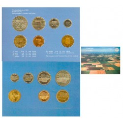 Serie. 1989. CUNI. (Beatriz)-(Serie/Set Oficial de 6 Valores:de 5 cts. a 5 Gulden+Medalla). FDC. KM. SS24