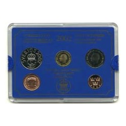 Suecia Serie. 2002. SC. (Blister Oficial-4 Valores+Medalla-(50 ore a 10 Kr.). CUNI. 100x140mm