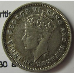 Guyana 4 Pence. 1945. AG. 1,885gr. Ley:0,500. (Britis Guyana). Ø16mm. EBC+/SC-. KM. 30 a