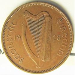 Irlanda.-Rep. 1 Farthing. 1928. CU. 2,83gr. Ø20mm. MBC+. KM. 1