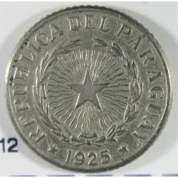 Paraguay 50 Ctvo. 1925. CUNI. 2gr. Ø17mm. MBC. KM. 12