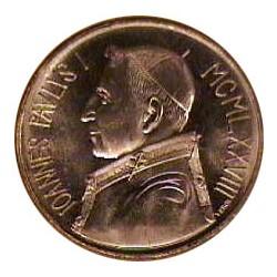 Vaticano 1000  Lira. 1983. AG. 14,6gr. (Año V). Ø30mm. SC. (Lev.patina). KM. 176