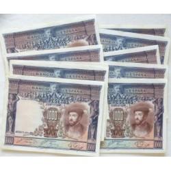 España 1000 Ptas. 1925. MBC+/EBC-. (Bastante Nuevos con doblez.Marquitas). (LOTE:10 Billetes-Carlos I). PIK. 70b - EDF. C2