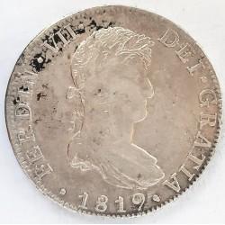 España 8 Reales. 1819. Mº-(Mejico). JJ. MBC-/MBC. AG. 26,81gr. Ø39mm. CT. 508