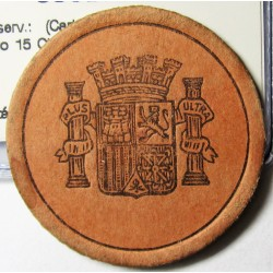 España 15 Cts. 1938. MBC+/EBC-. (Carton Moneda con Sello 15 Cts.Rojo). 3,75gr. Ø36mm
