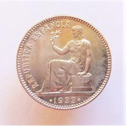 España 1 Ptas. 1933. *3*4. Madrid. SC. (Tono original). AG. 5gr. Ø23mm. CT. 2