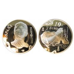 UE 10 Euro. 2004. PRF. (100º Anº.Dali-El Gran Masturbador). AG. 27gr. Ø40mm. KM. 1055