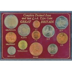 Gran Bretaña Serie. 1967. SC. (12 Mdas.:4 desde del 1/2 Penique a 1/2 Corona). ESCASO/A. CUNI. KM. MDS226
