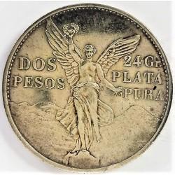 Mejico 2 Pesos. 1921. Mejico. EBC+/SC-. (MCMXXI-(1921)-(Cº Independencia). MUY ESCASO/A. AG. 26,67gr. Ø39mm. KM. 462