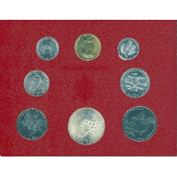 Vaticano Serie. 1974. SC. (Serie Oficial-(Año XII)-:8 val.:de 1 a 500 Liras). AG+NI+CU. KM. MS78