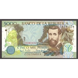 Colombia 5000 Pesos. 1998. SC. PIK. 447