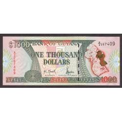Guyana 1000 Dolar. 1996. SC. PIK. 33