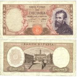 Italia 10000 Lira. 1976. -25/08. MBC. (Serie RB/D)-(PAREJA correlativa). (Muy nuevos con lev.doblez). PIK. 106 a