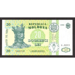 Moldavia 20 Lei. 1992. SC. PIK. 13