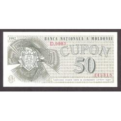Moldavia 50 Cupon. 1992. SC. PIK. 1