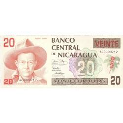 Nicaragua 20 Cordoba. 1990. SC. PIK. 176