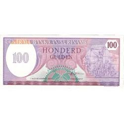 Surinam 100 Gulden. 1988. SC. PIK. 133 b