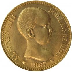 España 20 Ptas. 1887. *19*62. Madrid. MPM. SC-. (Nueva con lev.marquitas anv.). AU. 6,452gr. CT. 8 - HG. RO-7. Ø21,5mm