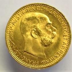 Austria-(y Estados) 10  Corona. 1912. SC-/SC. AU. 3,388gr. KM. 2816. Ø19mm