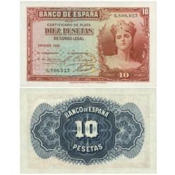 España 10 Ptas. 1935. SC. (Sin Serie). EDF. C15 - HG. 381