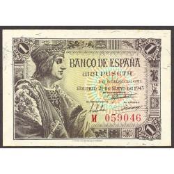 España 1 Ptas. 1943. SC. (Serie M-Fernando). EDF. D48 a - PIK. 126a