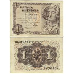 España 1 Ptas. 1948. SC/SC-. (Nuevo con esquinas muy lev.tocadas). (Sin Serie-D.Elche). EDF. D58 - PIK. 135a