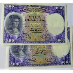 España 500 Ptas. 1928. SC/UNC. (Cisneros). PIK. 77a - EDF. C7. (De paquete). (Numeracion segun estoc)