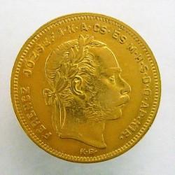 Hungria 8 Forint. 1878. KB-(Kremnitz). MBC. AU. 6,452gr. KM. 455,1. Ø21,5mm