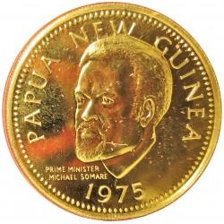 Papua Nueva Guinea 100 Kina. 1975. SC. AU. 9,57gr. KM. 9. Ø28mm