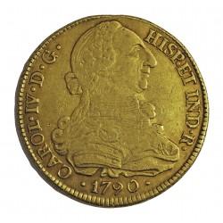 España 8 Escudos. 1790. P-(Popayan)-(Colombia). SF. MBC-/MBC. AU. 27,067gr. CT. 60 - KM. 53.2. Ø36mm