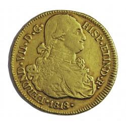 España 8 Escudos. 1818. P-(Popayan)-(Colombia). F.M. MBC-. AU. 26,99gr. CT. 64 - KM. 62.2. Ø37mm