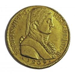España 8 Escudos. 1809. Sº(Santiago de Chile). FJ. EBC-/EBC. AU. 26,97gr. (Busto Almirante). CT. 89 - KM. 72. Ø37mm