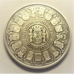 España 10000 Ptas. 1989. FDC. (VºCº-Autonomias). AG. 168,75gr. Ø73mm