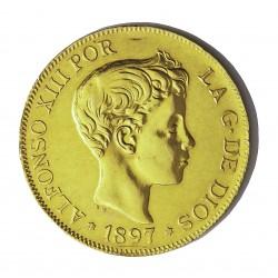 España 100 Ptas. 1897. *19*62. Madrid. SGV. EBC+. (Limpiada). AU. 31,5gr. CT. 2 - HG. RO-10. Ø35mm