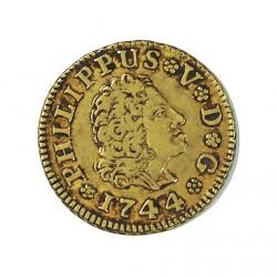 España ½ Escudos. 1744. M-(Madrid). AJ. MBC/MBC+. AU. 1,69gr. Ø15mm. CT. 504