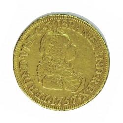 España 2 Escudos. 1757. NR-(N.Reino/Sta.Fe).(Colombia). S. MBC-. ESCASO/A. AU. 6,77gr. Ø22mm. CT. 162 - KM. 30.1