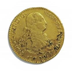 España 2 Escudos. 1792. NR-(N.Reino/Sta.Fe).(Colombia). JJ. MBC/MBC+. (Golpecito cto.). MUY ESCASO/A. AU. 6,77gr. CT. 270 - KM