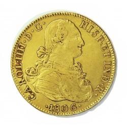 España 8 Escudos. 1806. Mº-(Mejico). T.H. EBC/EBC+. (Pqño.gpcto.cto.). AU. 27,07gr. Ø37mm. CT. 56 - KM. 159