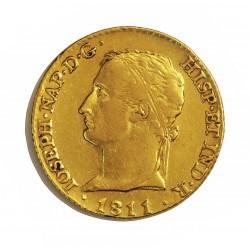 España 80 Reales. 1811. M-(Madrid). A.I. EBC-/EBC. ESCASO/A. AU. 6,77gr. CT. 9 - KM. 552. Ø21mm