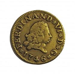 España ½ Escudos. 1746. M-(Madrid). AJ. MBC-/MBC. ESCASO/A. AU. 1,69gr. Ø15mm. CT. 212 - KM. 372