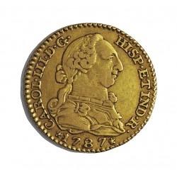 España 1 Escudos. 1787. M-(Madrid). D.V. MBC-/MBC. AU. 3,38gr. Ø18mm. CT. 518 - KM. 416.1 a