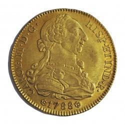 España 8 Escudos. 1788. S-(Sevilla). C. EBC/EBC+. (Restos de su brillo original.Bonita). AU. 27,07gr. Ø37mm. CT. 24 - KM. 409.