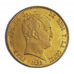 España 320 Reales. 1822. M-(Madrid). S.R. SC-/SC. (Lev. marquitas anv.Tono original). MUY ESCASO/A. AU. 26,96gr. Ø36mm. CT. 9