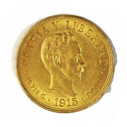 Cuba 10 Pesos. 1915. EBC-/EBC. (Gpctos.cto.). (J.Marti). AU. 16,719gr. Ø27mm. KM. 20