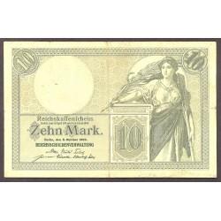 Alemania Imperio-(1871/1918) 10 Marcos. 1906. MBC. (Doblezes). PIK. 9 b
