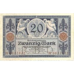 Alemania Imperio-(1871/1918) 20 Marcos. 1915. MBC+. (Doblez). PIK. 63