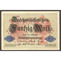 Alemania Imperio-(1871/1918) 50 Marcos. 1914. MBC+. (Entero.Dobleces). PIK. 49 b