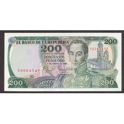 Colombia 200 Pesos. 1982. SC. PIK. 419