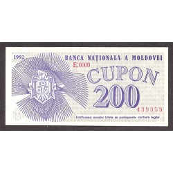 Moldavia 200 Cupon. 1992. SC. PIK. 2
